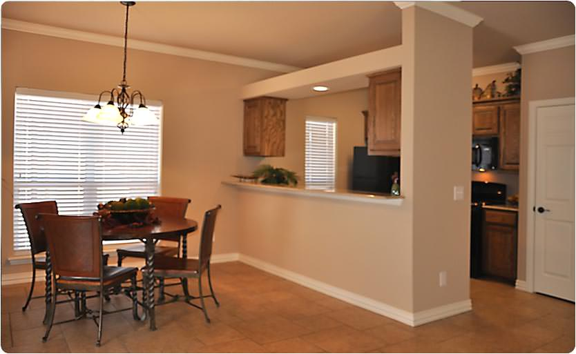 Each home comes with a spacious dining area and bar countertop for extra seating.