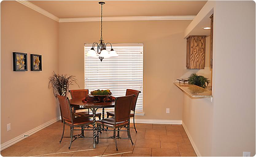 Another shot of the dining room where you can see there's plenty of natural light to be had.